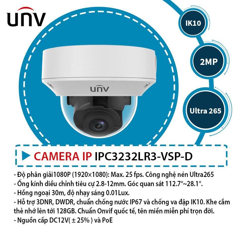 Chi tiết về Camera IP Uniview - Chuyên phân phối Camera IP UNV khu